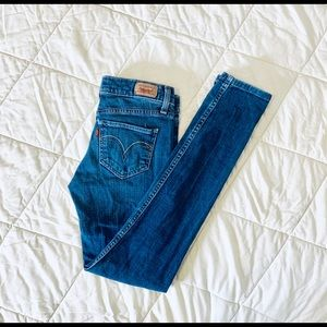 LEVI'S Too Super Low Skinny 524-Size 3Short *G692